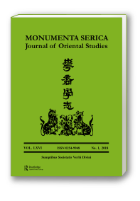 Monumenta Serica Journal, Vol. LXVI, No.1